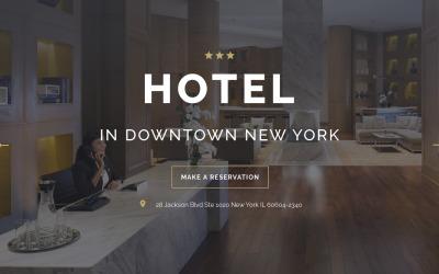 HOTEL - Stílusos utazási HTML céloldal sablon