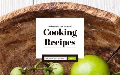 Modèle de page de destination réactif pour la cuisine