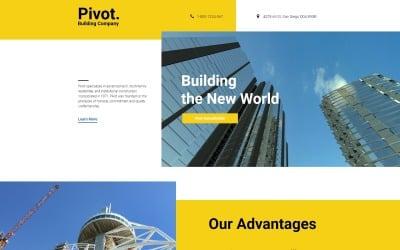 Pivot - Construction Company Clean HTML Landing Page Template