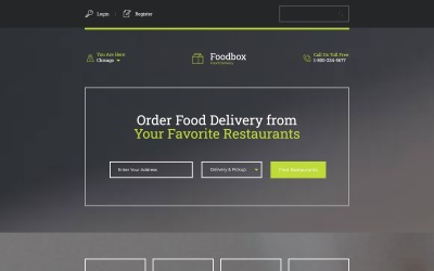 Delivery Services Responsive Landing Page Template