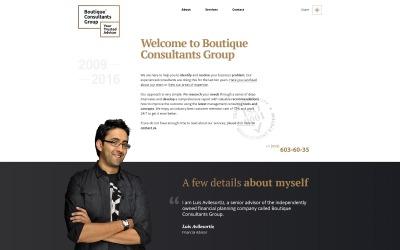 Responsivt WordPress-tema för finansiell rådgivare