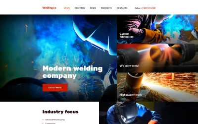 Welding Co Website Template