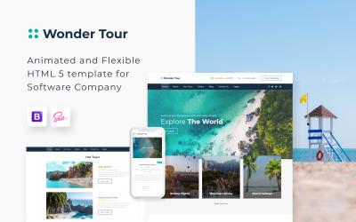 Wonder Tour - Eenvoudig websitesjabloon voor reisbureaus