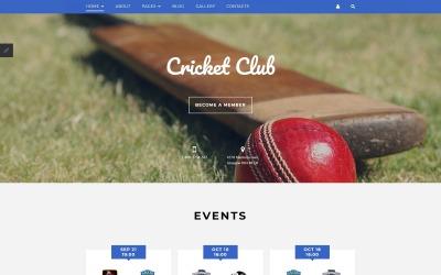 Krikettklub Joomla sablon