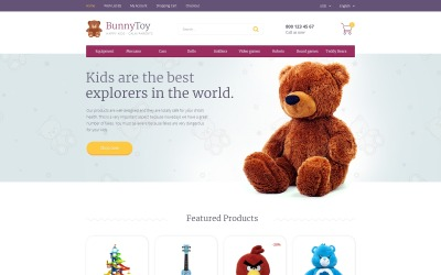 Bunny Toy OpenCart Template