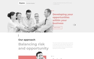 Business & Services Responsive Landing Page Template