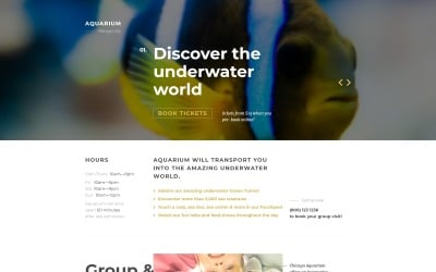 Fish Responsive Landing Page Template