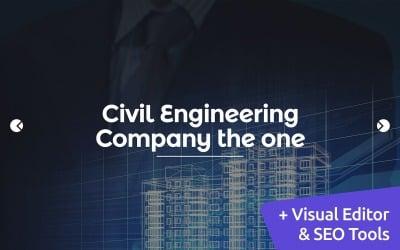 Civil Engineering Moto CMS 3 Template
