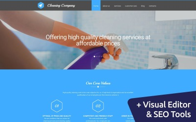 Cleaning Moto CMS 3 Template