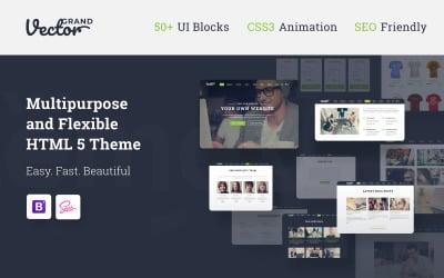 Grand Vector - веб-дизайн студії веб-дизайну HTML5