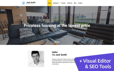 Real Estate Agent Moto CMS 3 Template