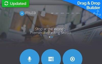 Recording Studio Moto CMS 3 Template