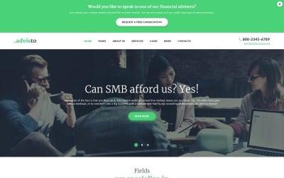 Advisto - Tema de WordPress para consultoría de asesores financieros