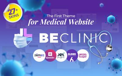 BeClinic - tema multifuncional de WordPress médico limpo
