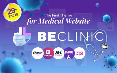 BeClinic - uniwersalny, medyczny, czysty motyw WordPress