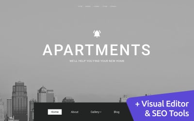 Commercial Real Estate Moto CMS 3 Template
