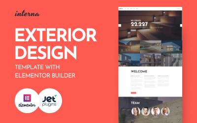 Interna-具有Elementor Builder WordPress主题的外观设计模板