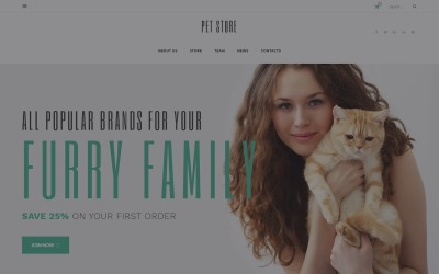 PetStore - Djurmaterial Shop Responsive WooCommerce Theme