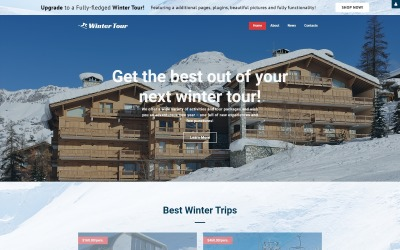 冬季游-旅行社免费创意Joomla模板
