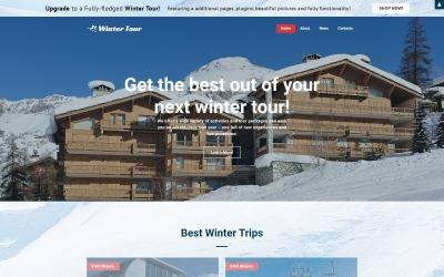 Winter Tour - Plantilla Joomla creativa gratuita para agencia de viajes