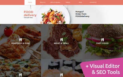 Catering Moto CMS 3-sjabloon