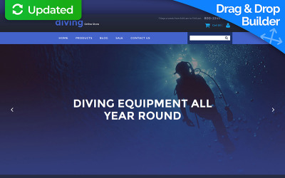 Diving MotoCMS Ecommerce Template