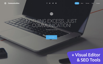 Networking Moto CMS 3 Template