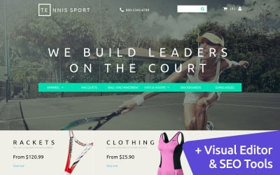 Tennis Store MotoCMS Ecommerce Template