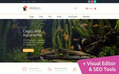 Animally - Pet Shop MotoCMS Ecommerce Template