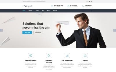 HTML-шаблон веб-сайта финансового консультанта