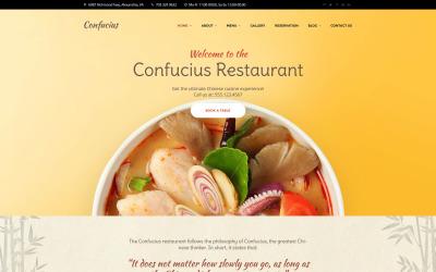 Конфуцій - адаптивна тема WordPress у китайському ресторані
