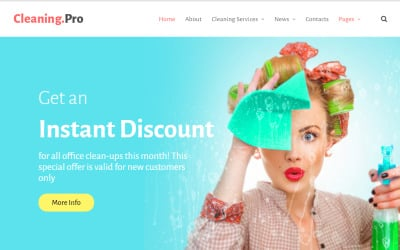 Cleaning & Maid Service Company Motyw WordPress