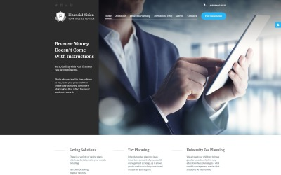 Financial Advision Joomla Template