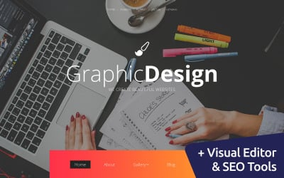 Graphic Design Moto CMS 3 Template