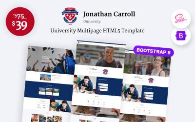Jonathan Carroll - University Responsive HTML5 Website Template