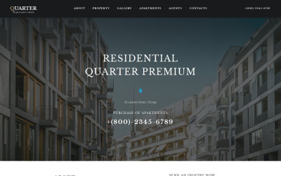 Real Estate Responsive Moto CMS 3 Template