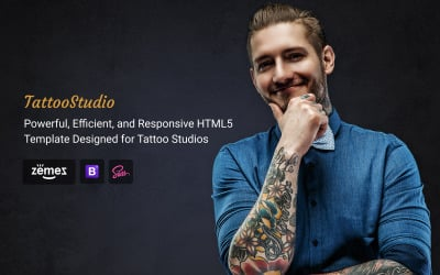 Tattoo Salon - Beauty Responsive HTML Website Template