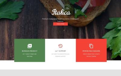 Tema WordPress responsivo de restaurante indiano
