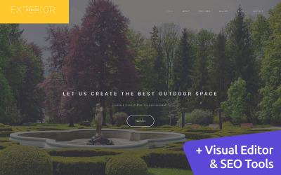 Exterior Design - Landscape Moto CMS 3 Template