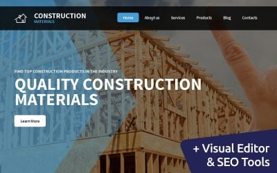 Manufacturing Moto CMS 3 Template