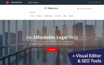 Fenimore - Law Firm Moto CMS 3 Template
