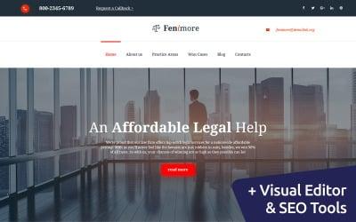 Fenimore - Шаблон Moto CMS 3 для юридической фирмы