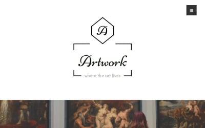 Tema de WordPress de arte y fotografía - Obras de arte