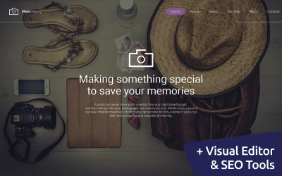PhotoCompany - Шаблон галереї портфоліо фотографа