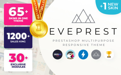 Eveprest - PrestaShop-tema för multifunktionell e-handelsmall