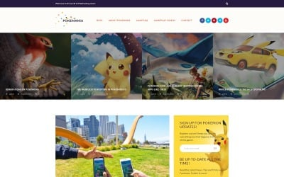 Pokemania-游戏门户网站Pokemon WordPress主题