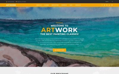 Адаптивная тема WordPress для школы искусств