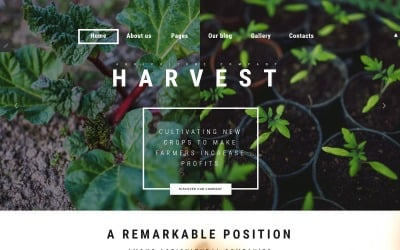 Harvest - Agriculture company Joomla Template