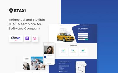 Etaxi - Taxi Company Responsive Website Template