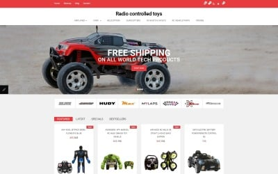 Radio Controlled Toys Responsive OpenCart Template